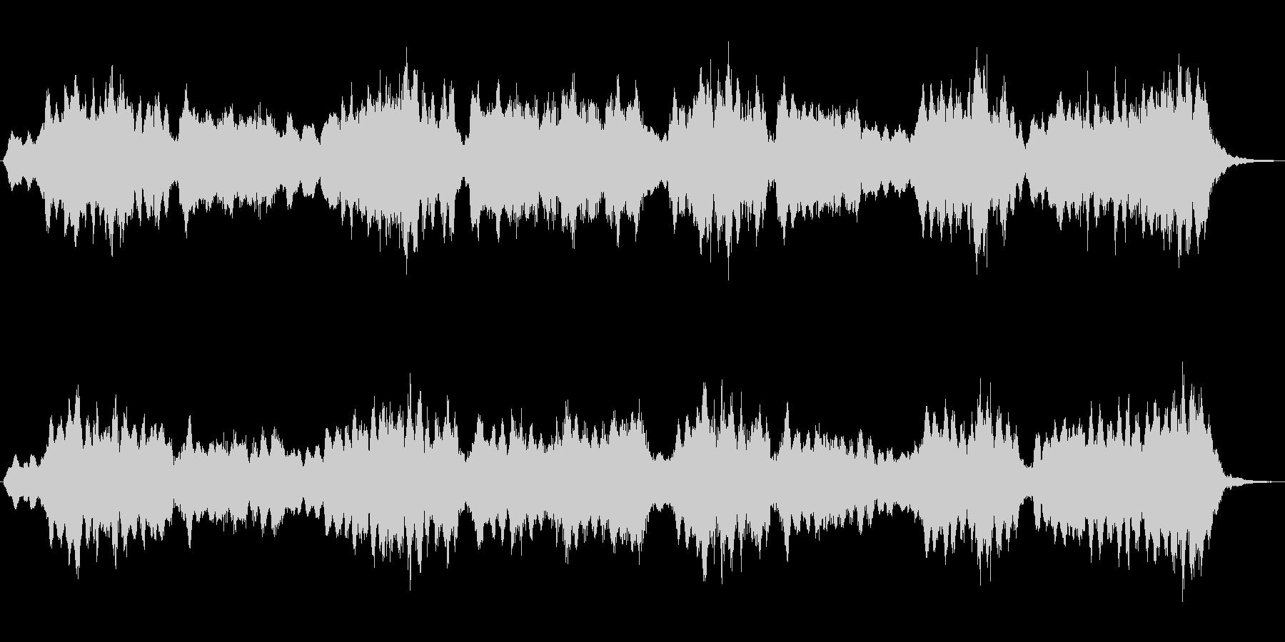 ホローパッドによる幻想的なジングルの未再生の波形