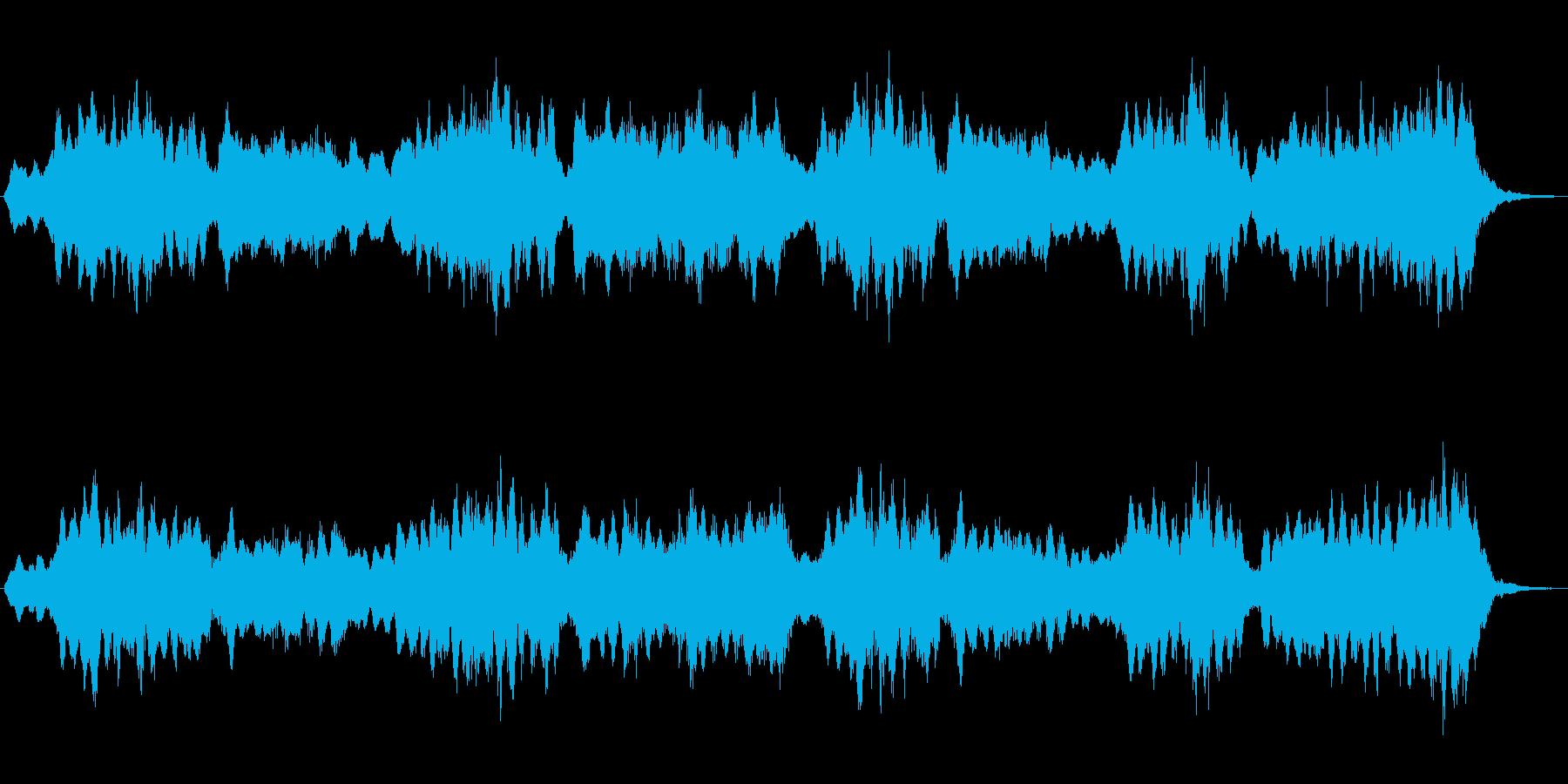 ホローパッドによる幻想的なジングルの再生済みの波形