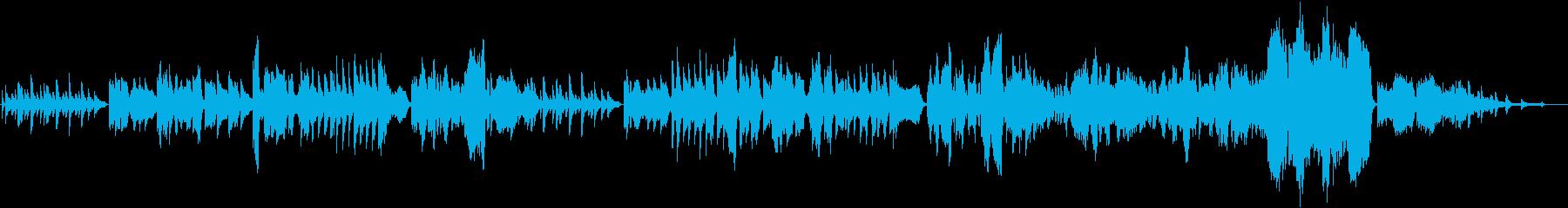 冬に向かう感傷的なクラシック声楽曲の再生済みの波形