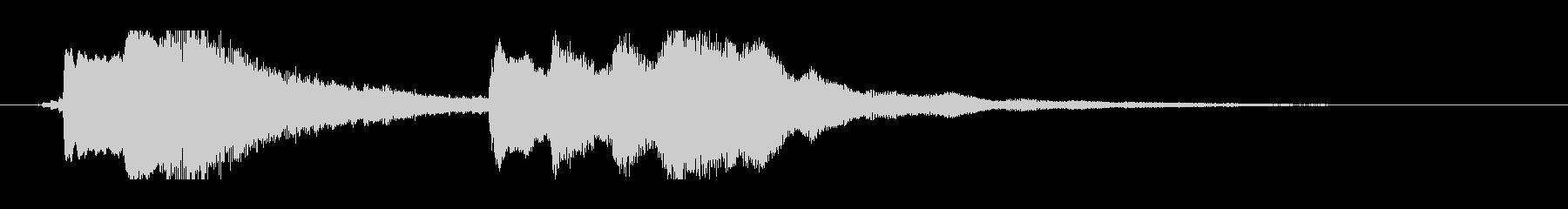 ジングル、サウンドロゴ、切ない、ハープの未再生の波形