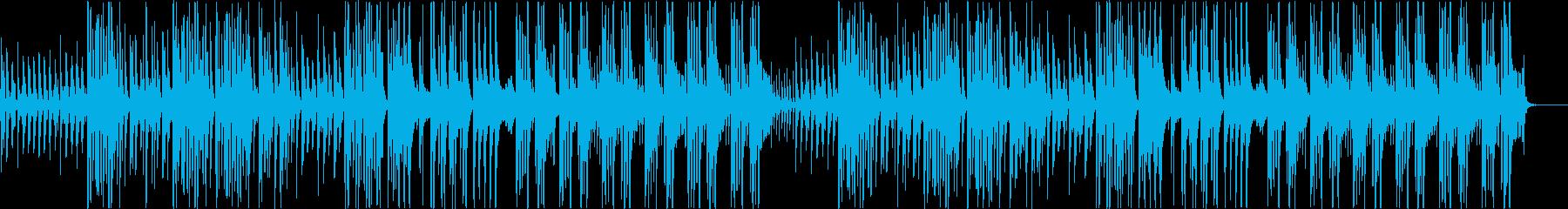 ふざけた調子のフルートBGMの再生済みの波形