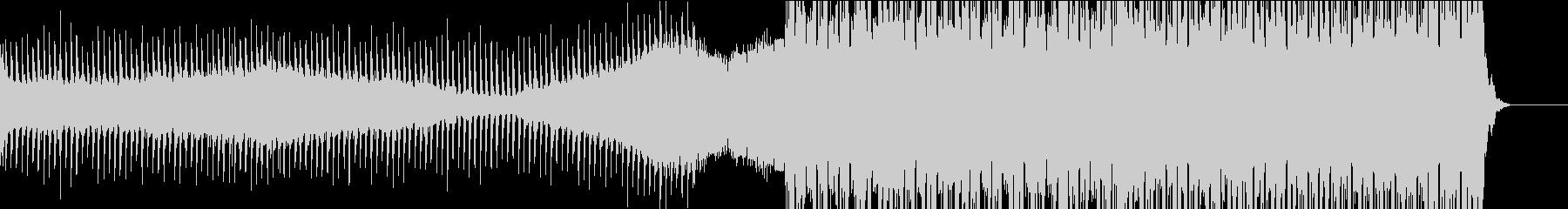 前半静かに始まり後半盛り上がるEDMの未再生の波形