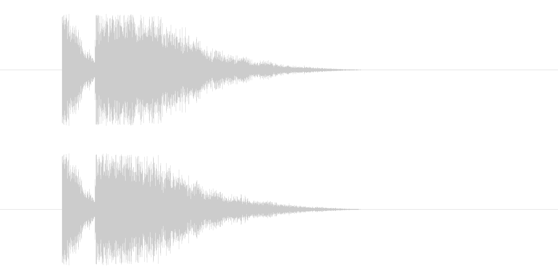 ビームライフル2の未再生の波形