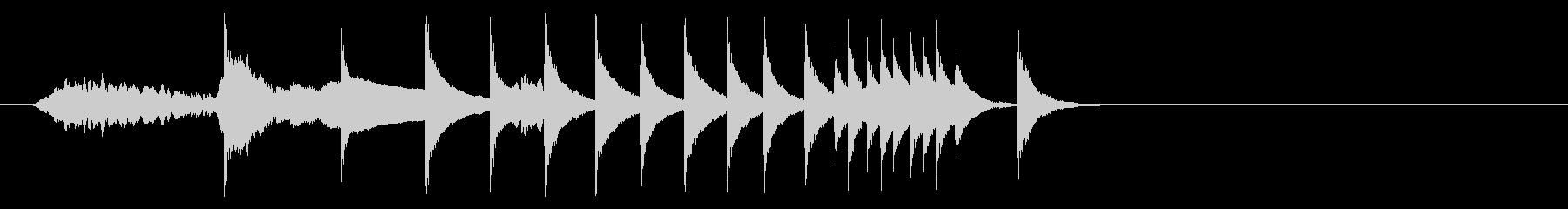 和風 相撲の終わりの時に流れる感じの未再生の波形