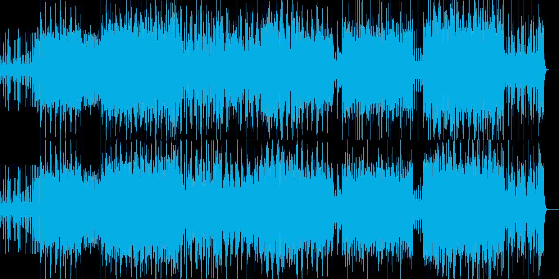 荘厳で激しいIDMの再生済みの波形