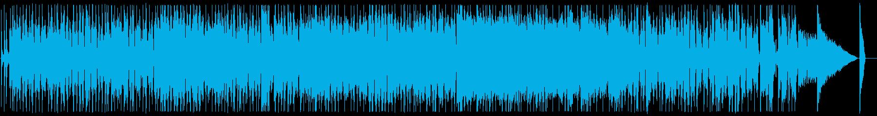 シャッフルビートの60年代風ブルースの再生済みの波形
