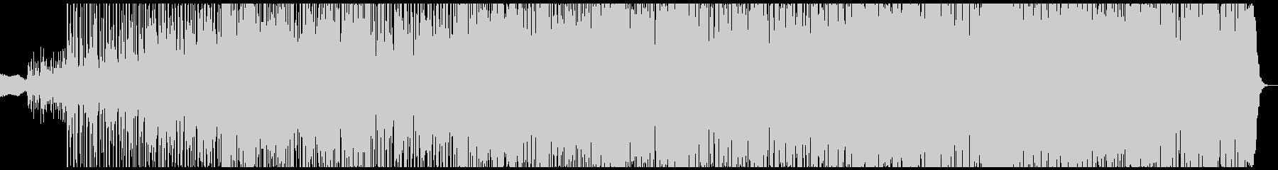 複雑なドラムとベース、シンセの異世界楽曲の未再生の波形