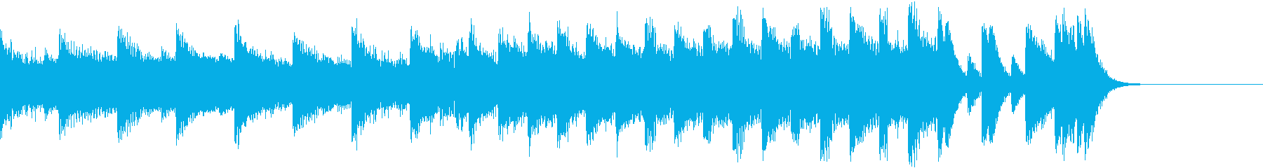 大一番!の切迫したシーンのピアノジングルの再生済みの波形