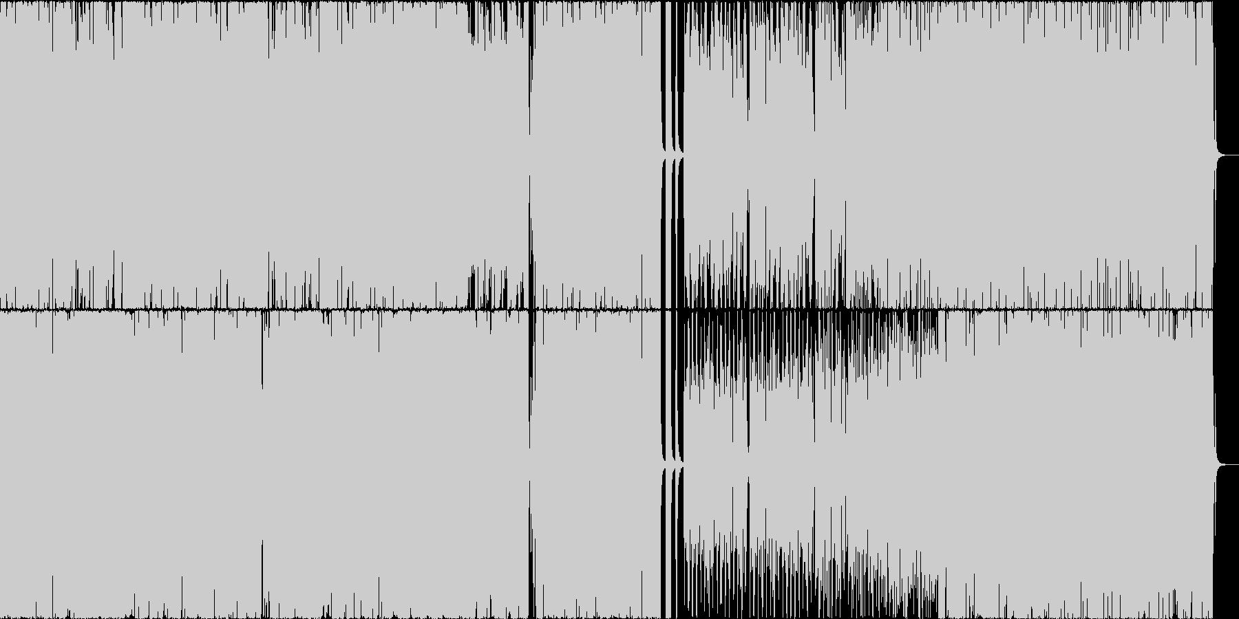 スピード感と緊迫感のあるジャズセッションの未再生の波形