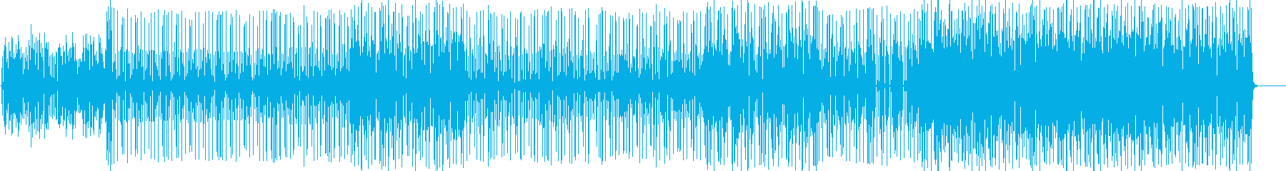 ファンキーなピアノのR&Bの再生済みの波形
