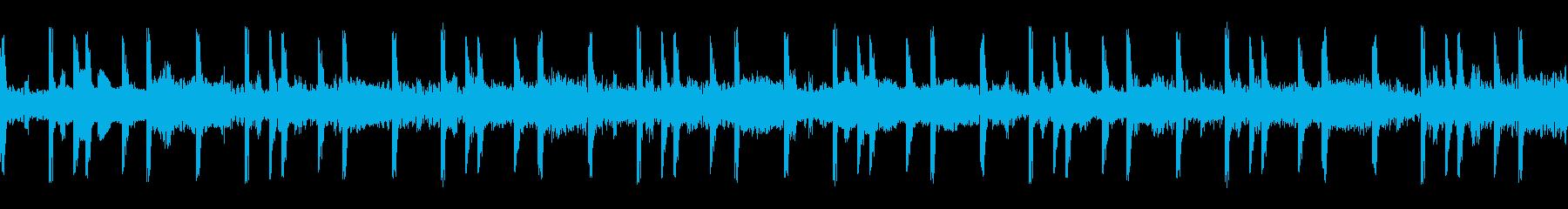 シリアスでシンプルなループBGMの再生済みの波形