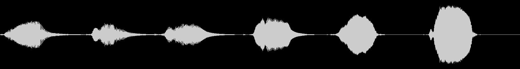 ピッピッピッピッピッの未再生の波形