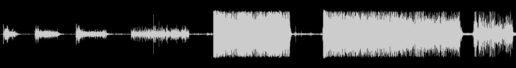 水水中ツールの未再生の波形