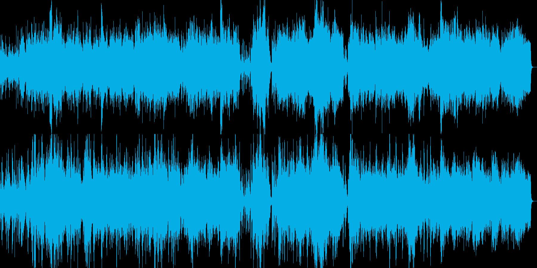 ピアノとストリングスの優しい雰囲気の楽曲の再生済みの波形