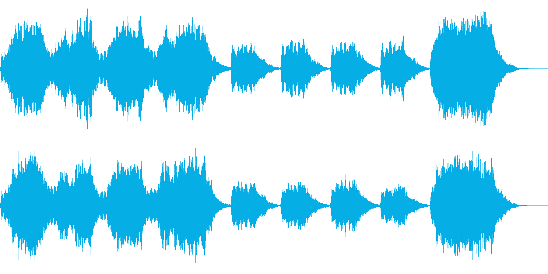 ストリングス系30秒ジングル「兆し」の再生済みの波形