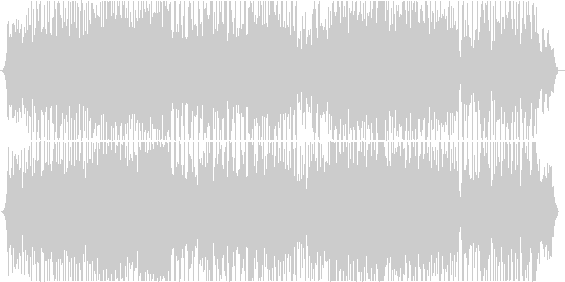【爽やか】ポジティブで美しい軽快なピアノの未再生の波形