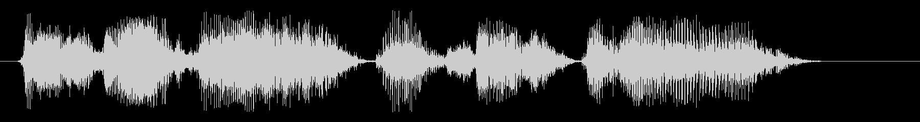 コンピューター、男性の声:パスワー...の未再生の波形