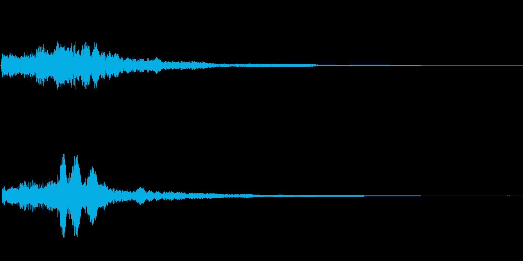 爽やかなギターサウンドロゴの再生済みの波形