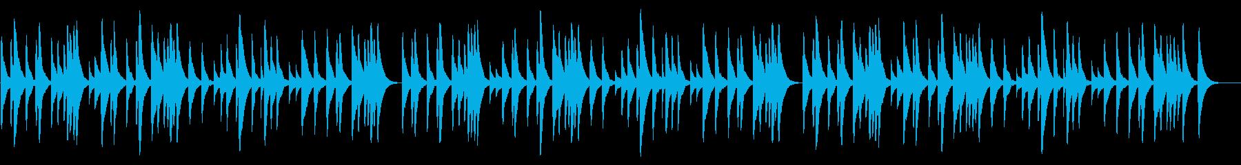 シューベルトの子守唄 18弁オルゴールの再生済みの波形