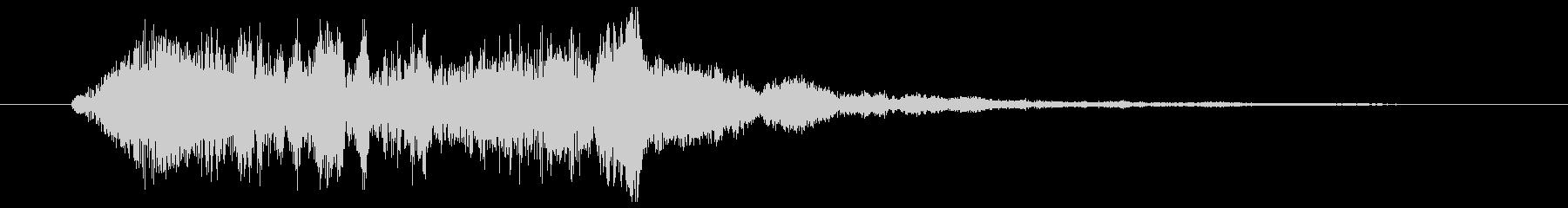 バイオリンのグリッサンド(アップ)の未再生の波形