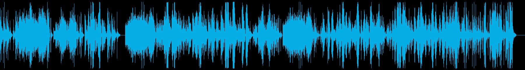 物悲しいピアノソロ曲の再生済みの波形