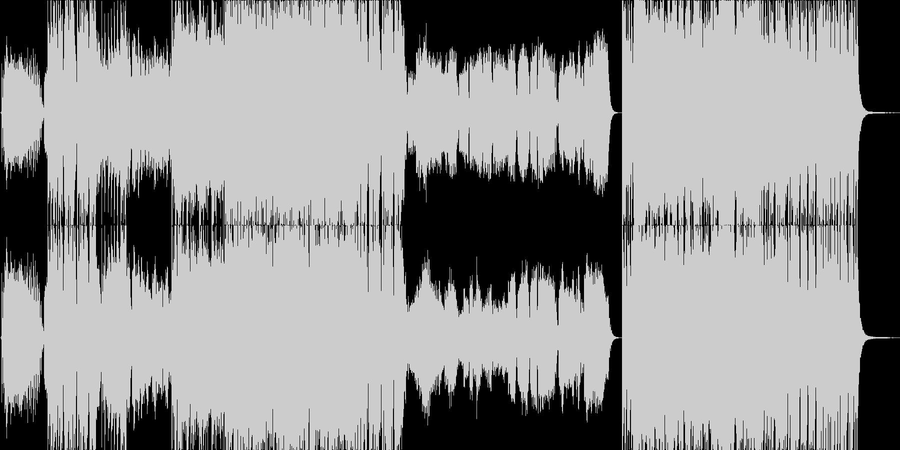 少し怪しげなアコースティックポップスの未再生の波形