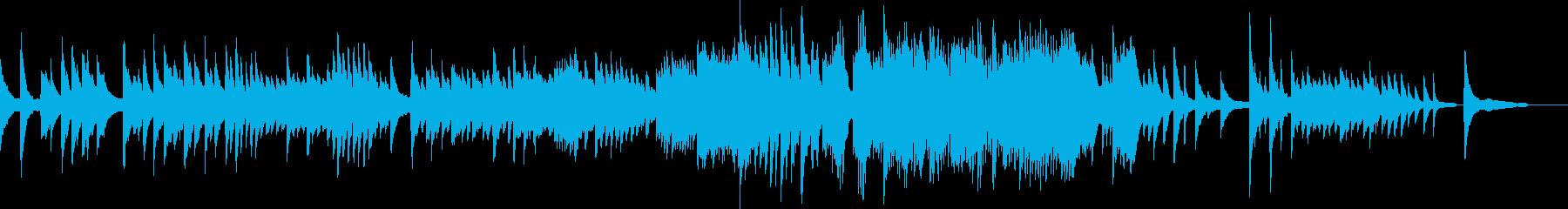 懐かしい記憶に触れるイメージのピアノソロの再生済みの波形