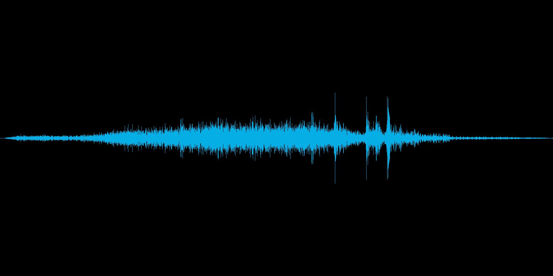 【wav】ページめくり音です_01の再生済みの波形
