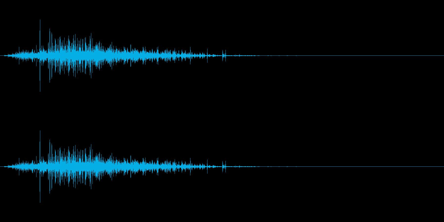 【生音】ジャラーという粒が流れる落下音の再生済みの波形
