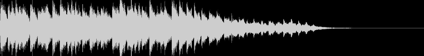 幻想的なシンセサウンドロゴの未再生の波形