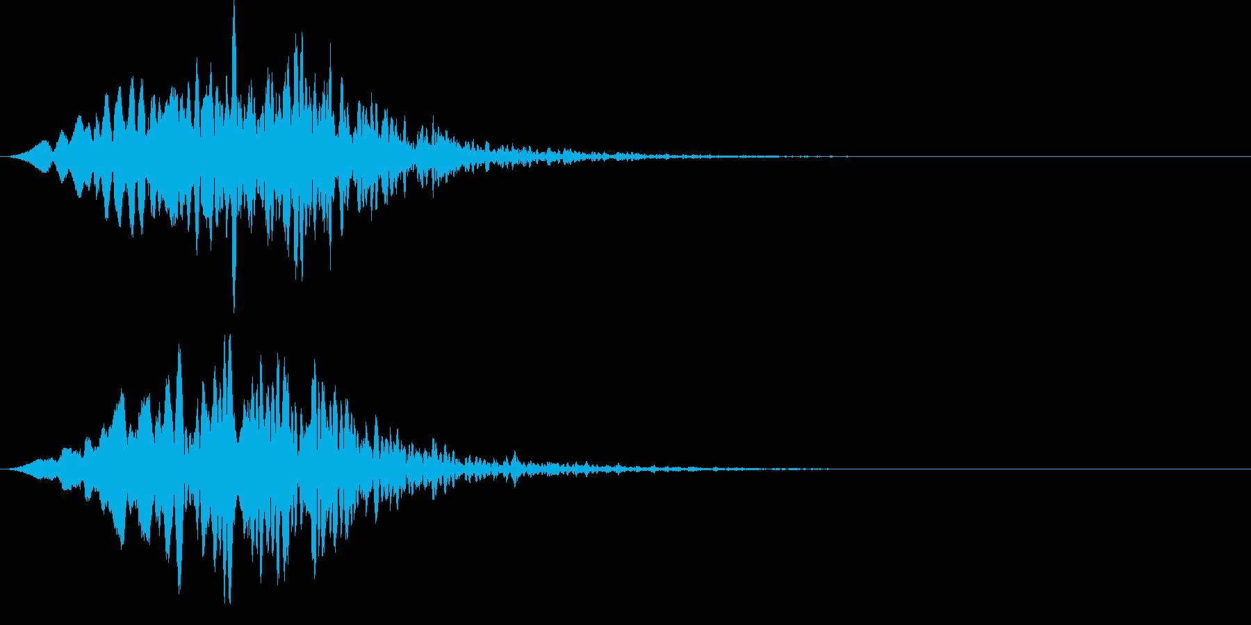 ヒューっと不気味な何かが通る効果音の再生済みの波形
