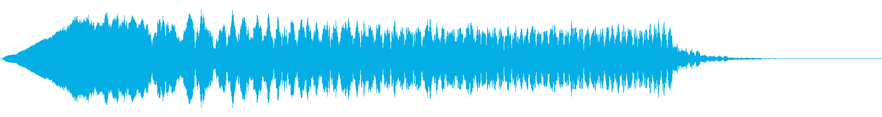 怖くないお化けの登場音の再生済みの波形