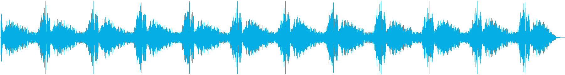 パトカー等のサイレンの再生済みの波形