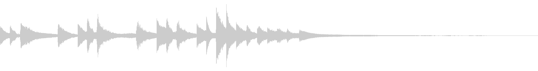 和風のジングル14-ピアノソロの未再生の波形