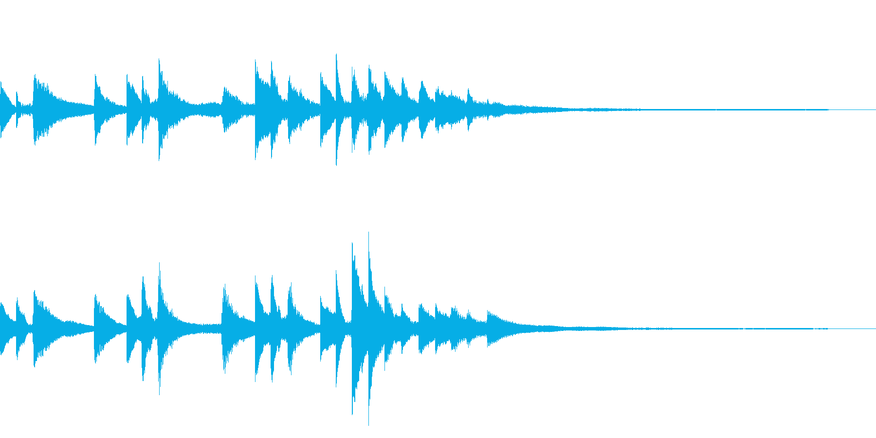 和風のジングル14-ピアノソロの再生済みの波形
