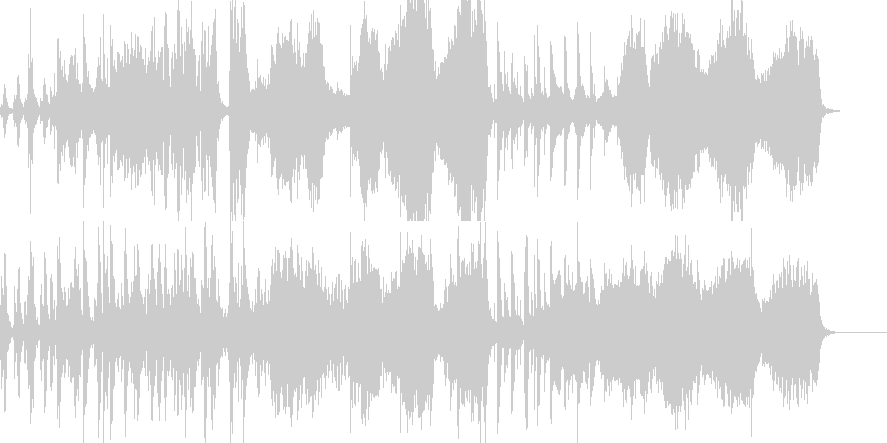和楽器 オーケストラ 弦楽器 管楽器の未再生の波形