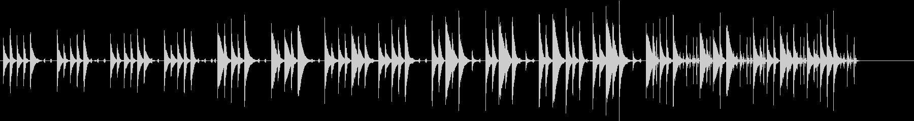 木琴がメインのほのぼのとした曲の未再生の波形