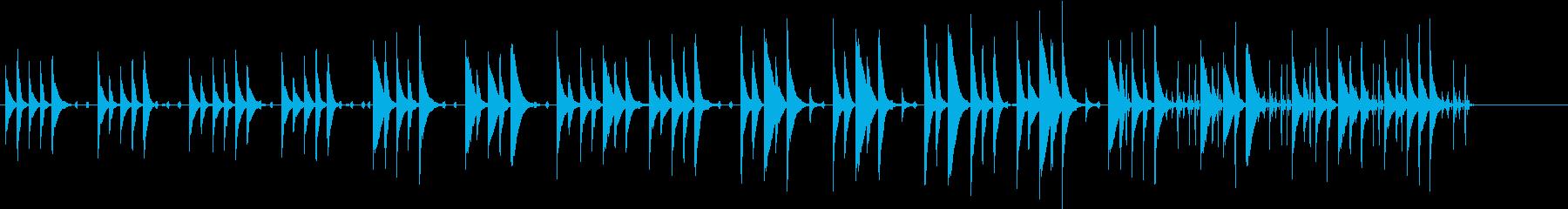 木琴がメインのほのぼのとした曲の再生済みの波形