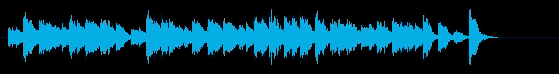 酒場で流れるおしゃれで軽快なピアノ曲1の再生済みの波形
