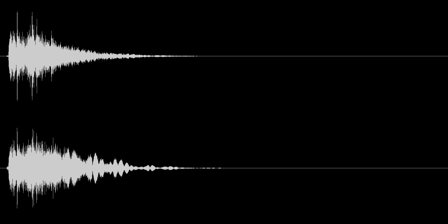 フェンス 揺らす音の未再生の波形