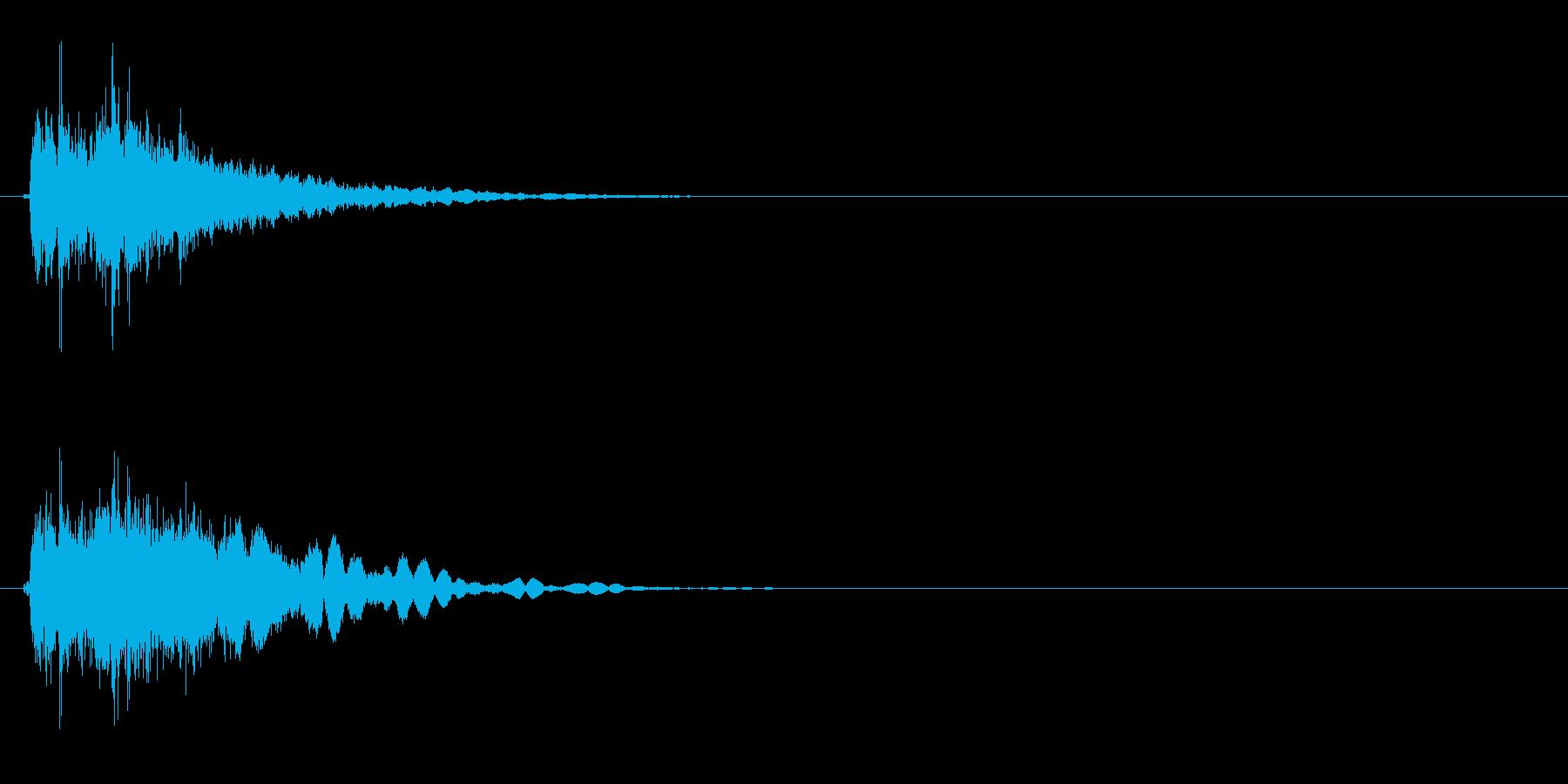 フェンス 揺らす音の再生済みの波形