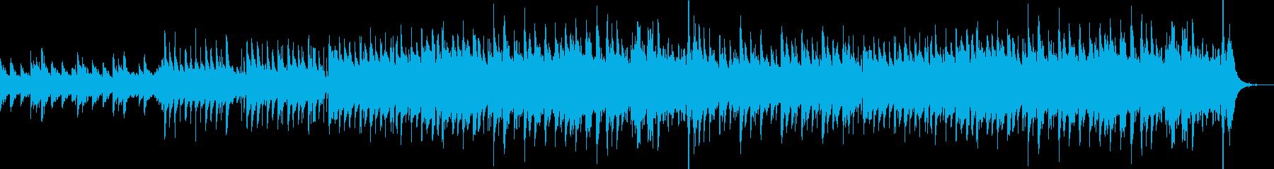 ピアノ中心の心あたたまるBGMの再生済みの波形