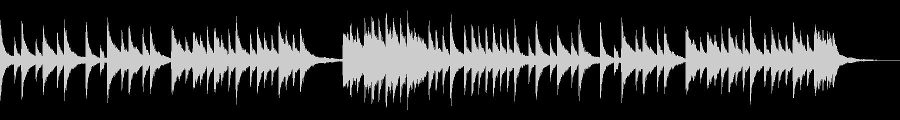 映像やCMなどに。切ないピアノのBGMの未再生の波形