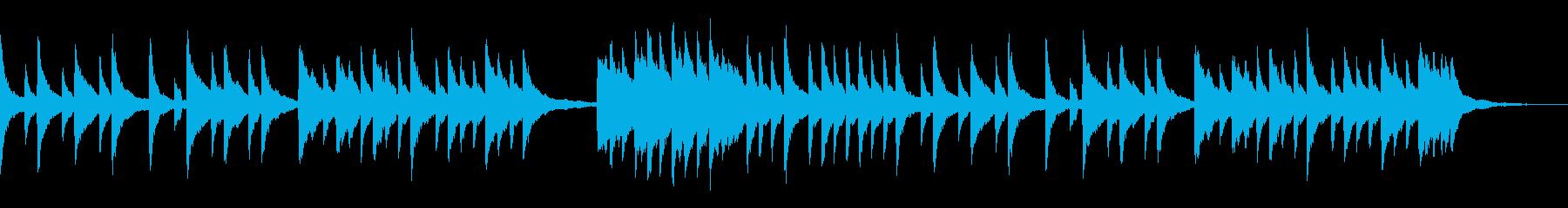 映像やCMなどに。切ないピアノのBGMの再生済みの波形
