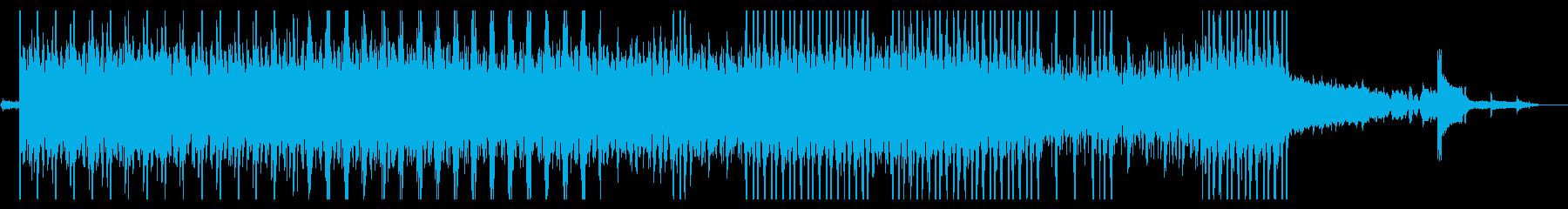 怪しげな雰囲気のテクノサウンドの再生済みの波形