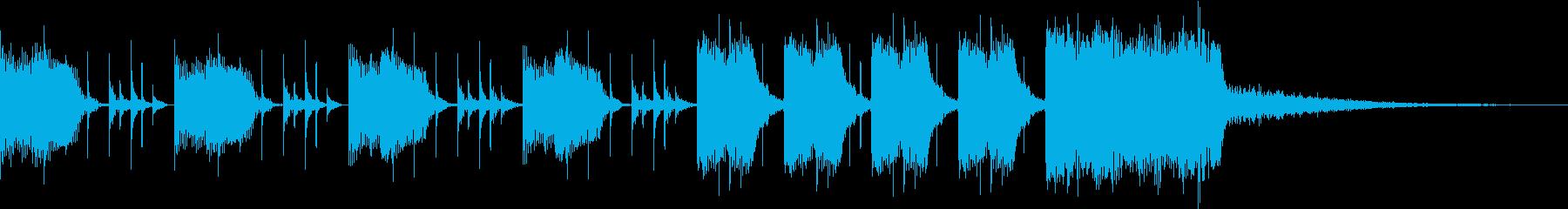 シンキングタイムジングル(10秒)の再生済みの波形