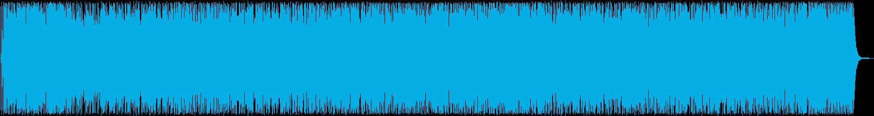 明るい未来へ向かうようなポップス曲の再生済みの波形