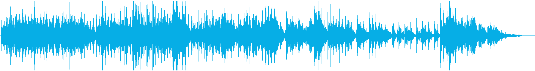 和風ゆったりピアノ・ソロの再生済みの波形