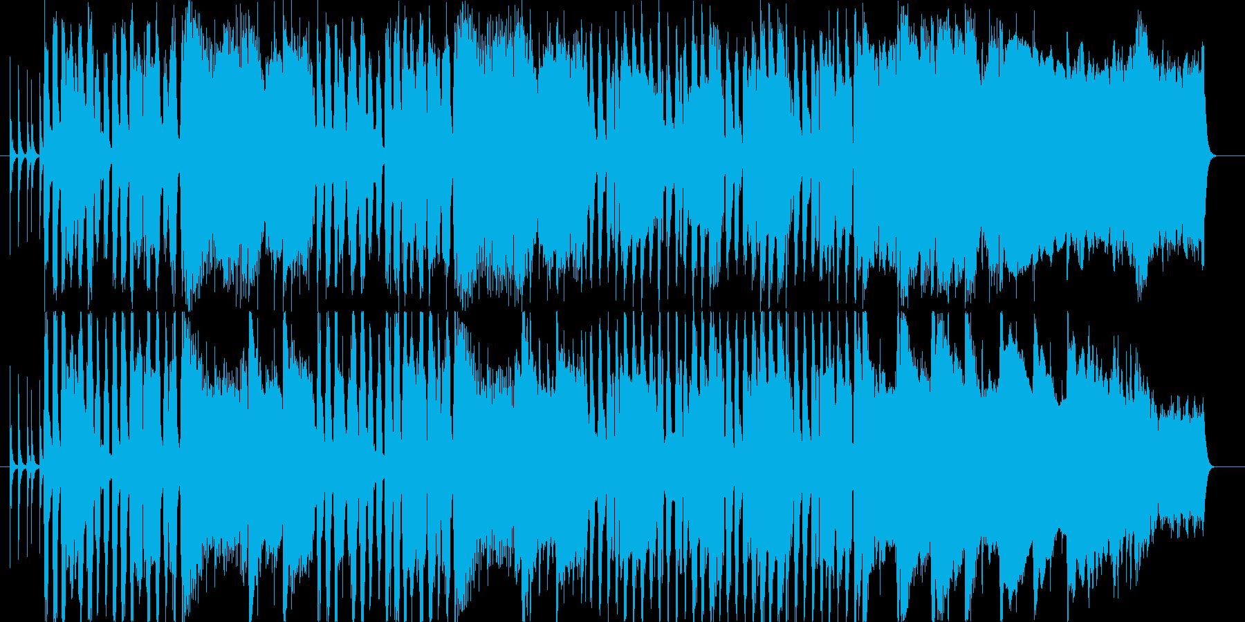 トロンボーンのメロディでまったりとした曲の再生済みの波形