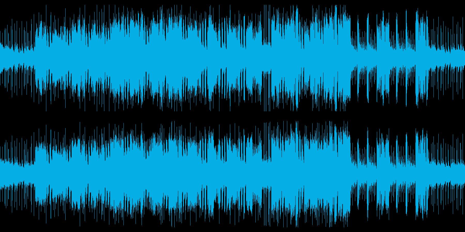 激しいロック×ださいシンセのBGMの再生済みの波形